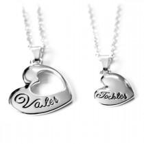 Vater und Tochter Halskette / Herzkette