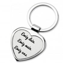 Metall Schlüsselanhänger - Ewig dein Ewig mein Ewig uns