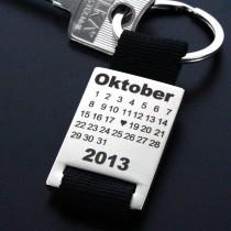 Metall Schlüsselanhänger - Herztag Kalender