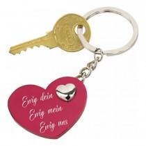 Lieblingsmensch Schlüsselanhänger rotes Herz