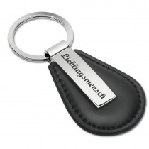 Schlüsselanhänger Kunststoff/Leder Modell: Lieblingsmensch