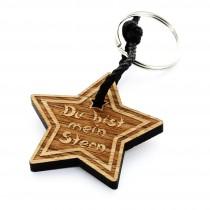 Holz Schlüsselanhänger Modell: Du bist mein Stern