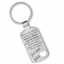 Lieblingsmensch Metall Schlüsselanhänger - Wenn ich wählen müsste