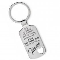 Lieblingsmensch Metall Schlüsselanhänger - Die wichtigen nennen mich Mama