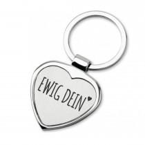 Lieblingsmensch Schlüsselanhänger in Herzform Modell: Ewig Dein