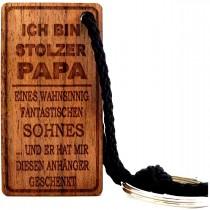 Familien - Schlüsselanhänger aus Holz Modell: wahnsinnig fantastisch
