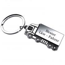 Metall Schlüsselanhänger Modell: Bester LKW Fahrer - Verschiedene Ausführungen