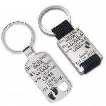 Metall Schlüsselanhänger - Ganz viel Liebe – individualisierbar