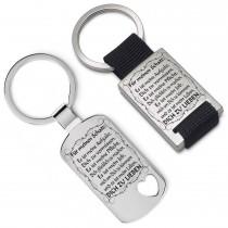 Metall Schlüsselanhänger - Es ist mein Leben dich zu lieben