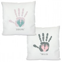 Kissen mit Motiv Modell: Hand und Fuß - Für Mama oder Papa