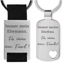 Metall Schlüsselanhänger Modell: Immer mein / meine ...