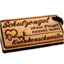 Gravur Schlüsselanhänger aus Holz : Schutzengel ohne Flügel nennt man ...
