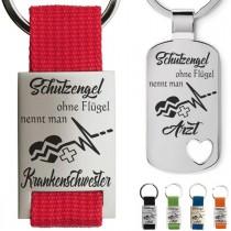 Metall Schlüsselanhänger - Schutzengel ohne Flügel nennt man ... (verschiedene Varianten)
