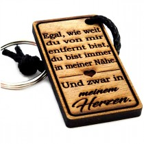 Gravur Schlüsselanhänger aus Holz : In meinem Herzen