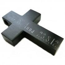 Edelstahl Kreuz Anhänger mit Diamantgravur