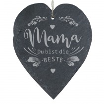 """Schieferherz """"Mama Du bist die Beste"""""""
