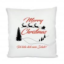 Kissen mit Motiv Modell: Merry Christmas personalisierbar