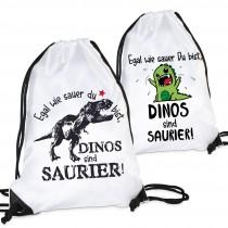 Turnbeutel: Egal wie sauer Du bist, Dinos sind Saurier!