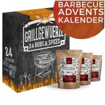 BBQ Grillgewürz-Adventskalender Weihnachtskalender mit 24 edlen Grill Gewürzspezialitäten