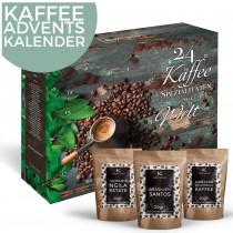 Kaffee-Adventskalender Weihnachtskalender mit 24 edlen Kaffees aus aller Welt