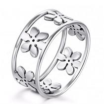 Damenring  Ring mit Blumen