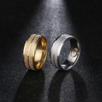 Damenring  Ring aus Edelstahl mit Glitzerschein