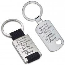 Metall Schlüsselanhänger - Bei dir lächelt mein Herz