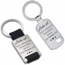 Metall Schlüsselanhänger - Liebe ist