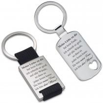 Metall Schlüsselanhänger - Meine Liebe zu dir