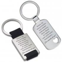 Metall Schlüsselanhänger - Neben dir einzuschlafen