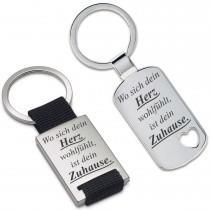 Metall Schlüsselanhänger - Wo sich dein Herz wohlfühlt