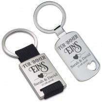 Schlüsselanhänger: Für immer Eins (personalisierbar)