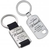 Metall Schlüsselanhänger - Es ist mein größter Wunsch, dass du für immer ...