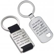 Metall Schlüsselanhänger - Ich werde immer zu dir halten ...