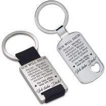 Metall Schlüsselanhänger - Ich will dich