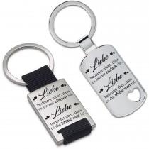 Metall Schlüsselanhänger - Liebe bedeutet nicht, dass es immer einfach ist.