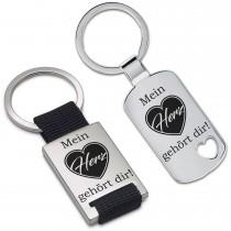 Metall Schlüsselanhänger - Mein Herz gehört dir!