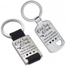 Schlüsselanhänger: Ich liebe Dich, weil unsere Hände so perfekt ineinander passen.