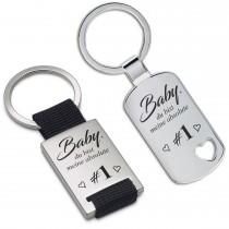 Metall Schlüsselanhänger - Baby, du bist meine absolute #1