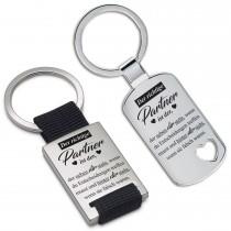 Metall Schlüsselanhänger - Der richtige Partner ist der - der neben dir steht......