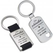 Metall Schlüsselanhänger - Die schönsten Erinnerungen sammelt man immer zu zweit.