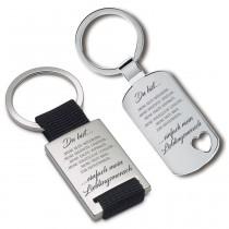 Metall Schlüsselanhänger - Du bist einfach mein Lieblingsmensch