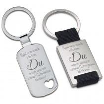 Metall Schlüsselanhänger - Egal wie stark ich bin...
