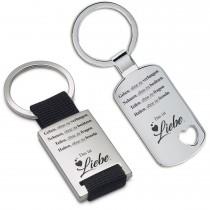 Metall Schlüsselanhänger - Geben, ohne zu verlangen ...