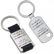 Metall Schlüsselanhänger - ich sah dich - ich wollte dich ...
