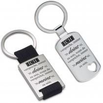 Metall Schlüsselanhänger - Ich verspreche, immer deins zu sein ...