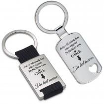 Metall Schlüsselanhänger - Jeder Mensch hat eine eigene Definition von Glück.