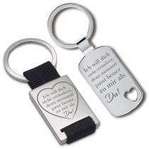 Metall Schlüsselanhänger - Ich will dich nicht verändern, denn niemand passt besser zu mir als Du!