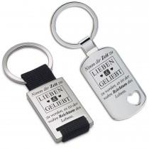 Metall Schlüsselanhänger - Nimm dir Zeit zu LIEBEN & GELIEBT zu werden ...