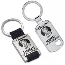 Metall Schlüsselanhänger - Omas sind wie Mamas ... nur mit Puderzucker